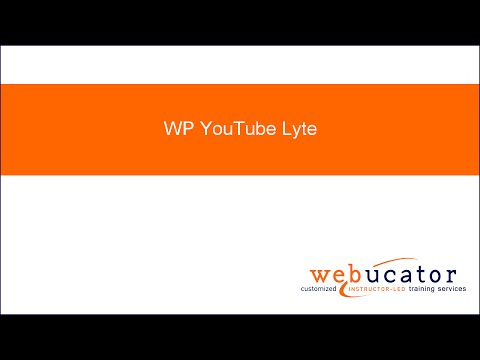 WordPress YouTube Lyte Plugin